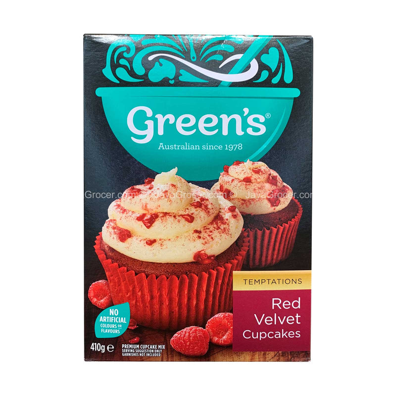 Green's Red Velvet Cupcakes Mix 410g