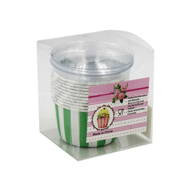 Cupcake Case with Plastic Lid 10pccs