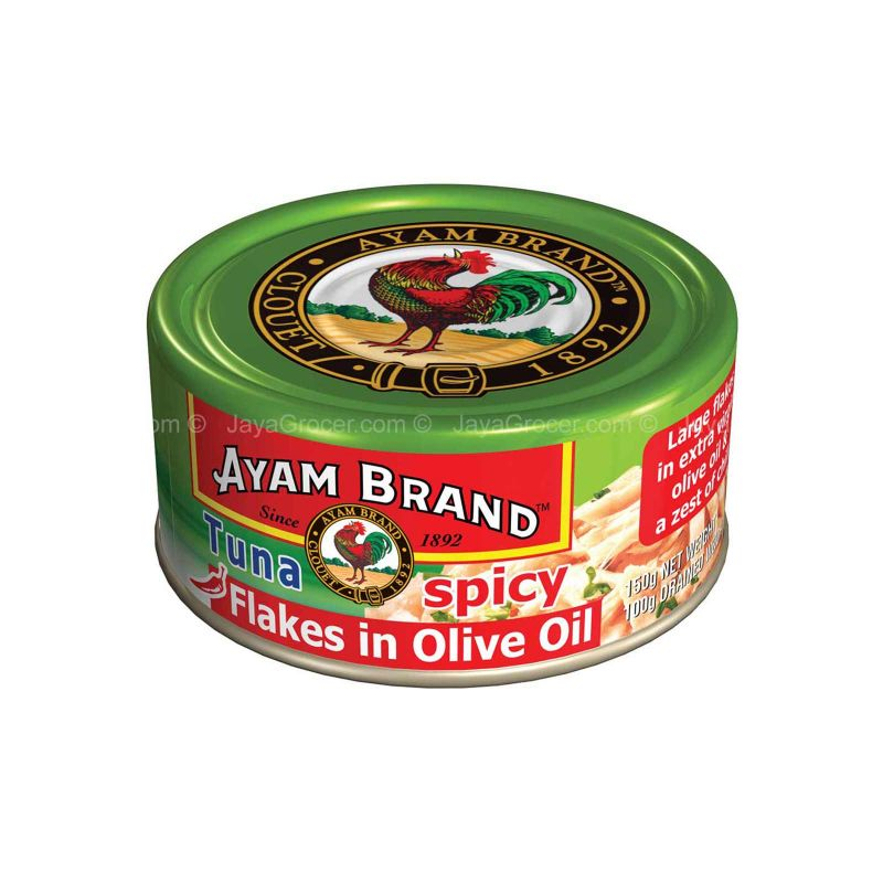 Ayam Brand Tuna Flakes Spicy in Olive Oil 150g