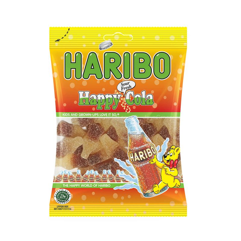 Haribo Happy Cola Jelly Sour Fresh Candy 80g