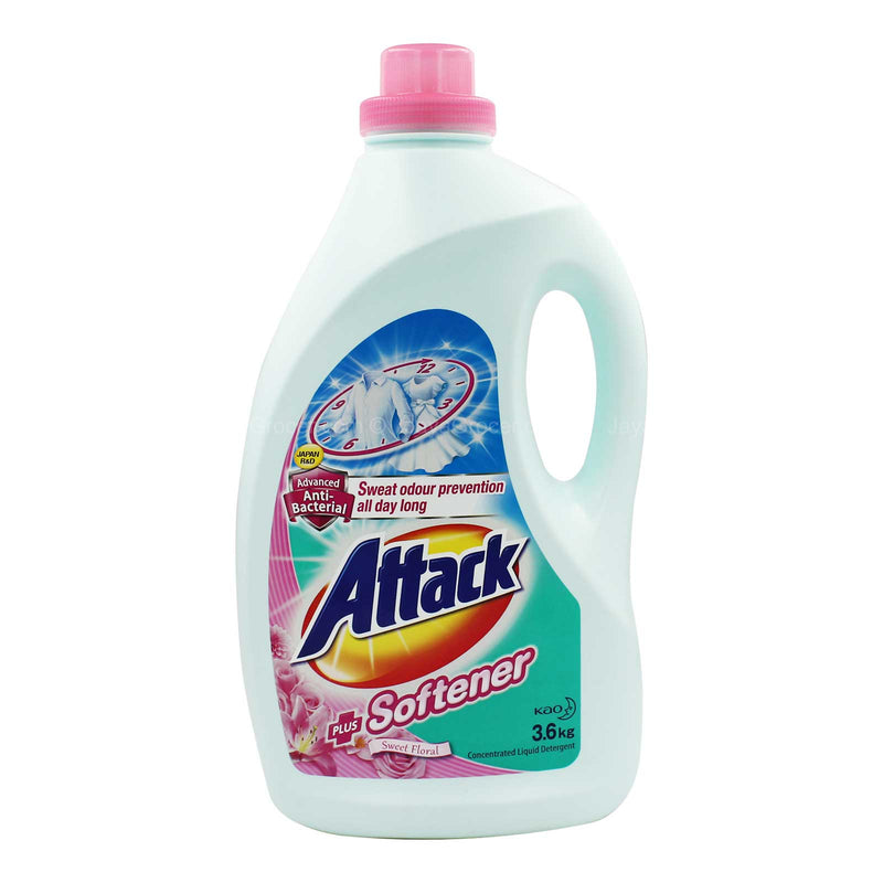 Attack Ultra Power Detergent Liquid Plus Softener 3.6kg