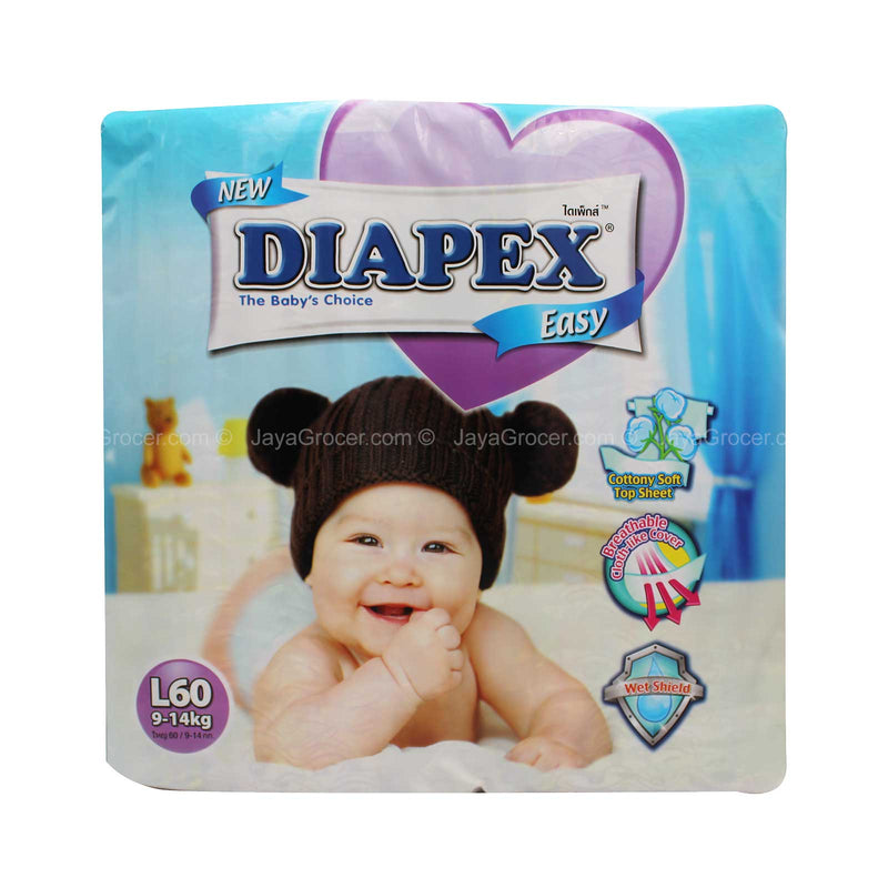 Diapex Easy Baby DiapersL Size 60pcs