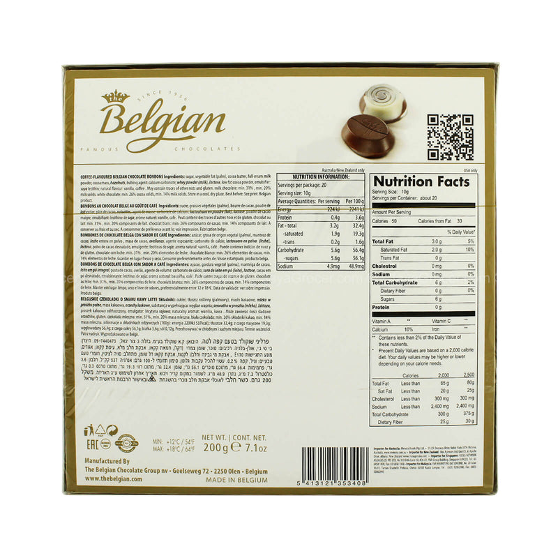 Belgian Caffee Latte Chocolate 200g