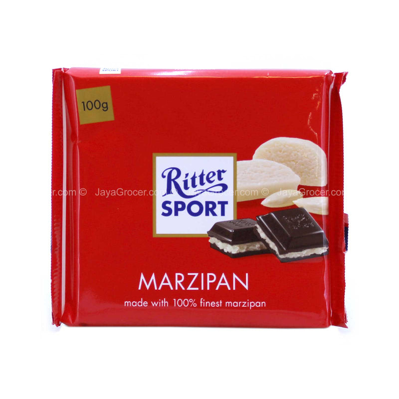 Ritter Sport Marzipan Chocolate Bar 100g