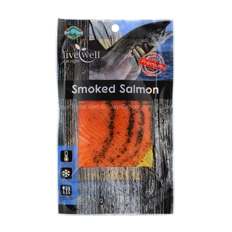 Live Well Smoked Salmon Black Pepper Marinated 100g