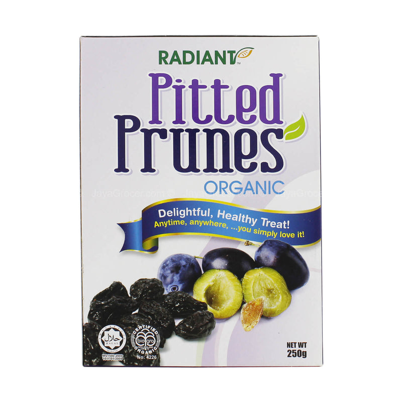 Radiant Whole Food Organic Pitted Prunes 250g