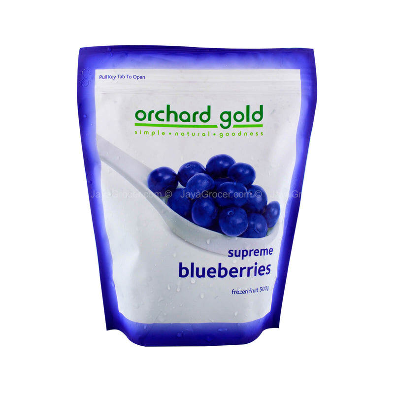 Orchard Gold Supreme Frozen Blueberries Fruit 500g