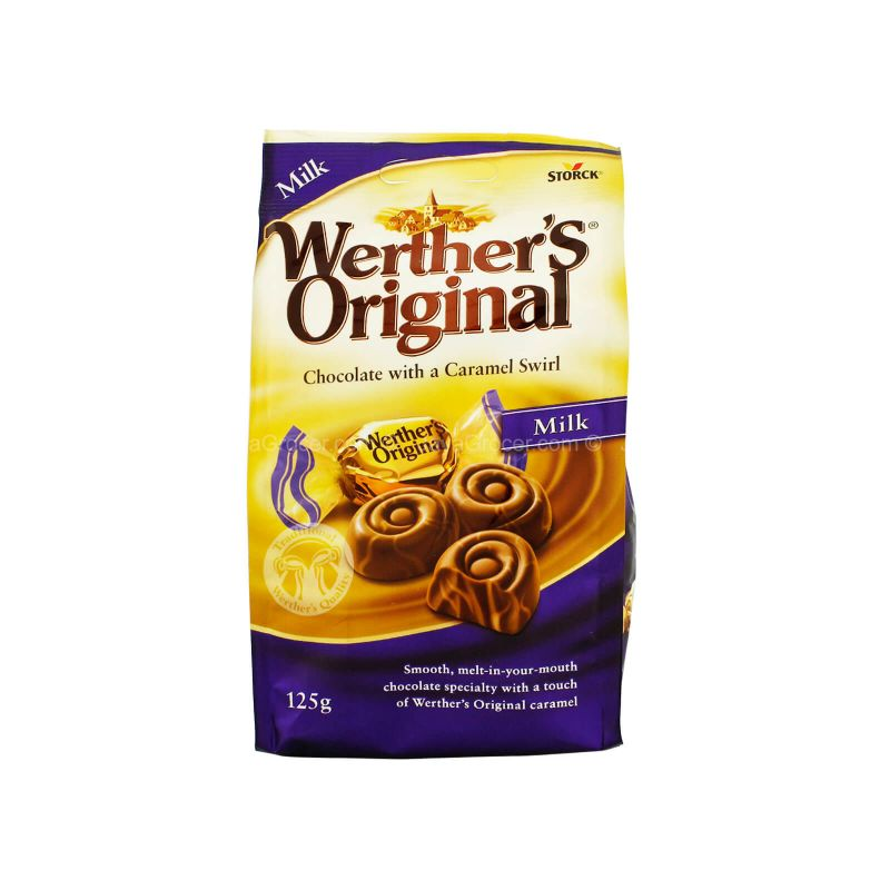Storck Werther's Original Milk Chocolate with a Caramel Swirl 125g