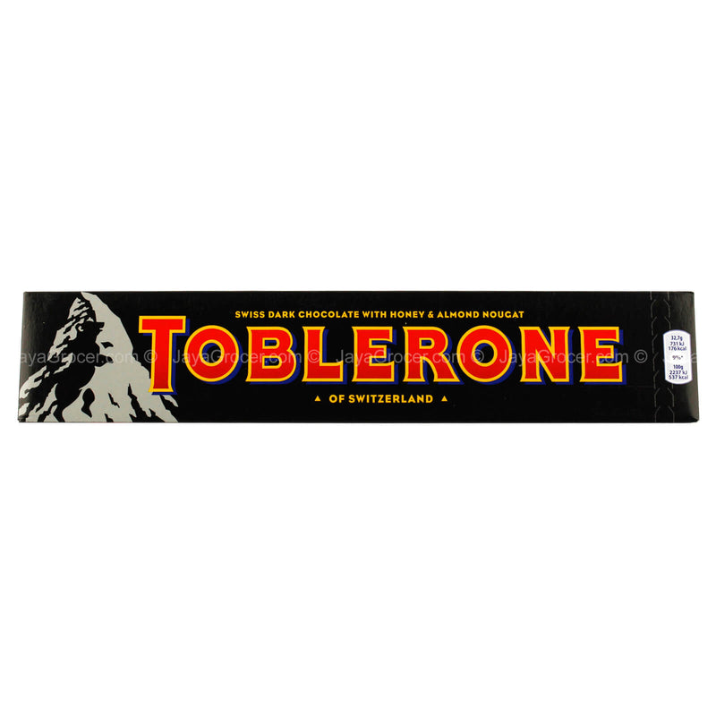 Toblerone Swiss Dark Chocolate with Honey & Almond Nougat 360g