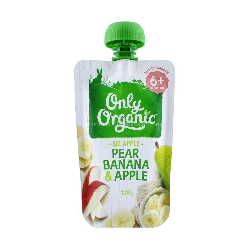 Only Organic Pear, Banana and Apple Baby Fruit 120g