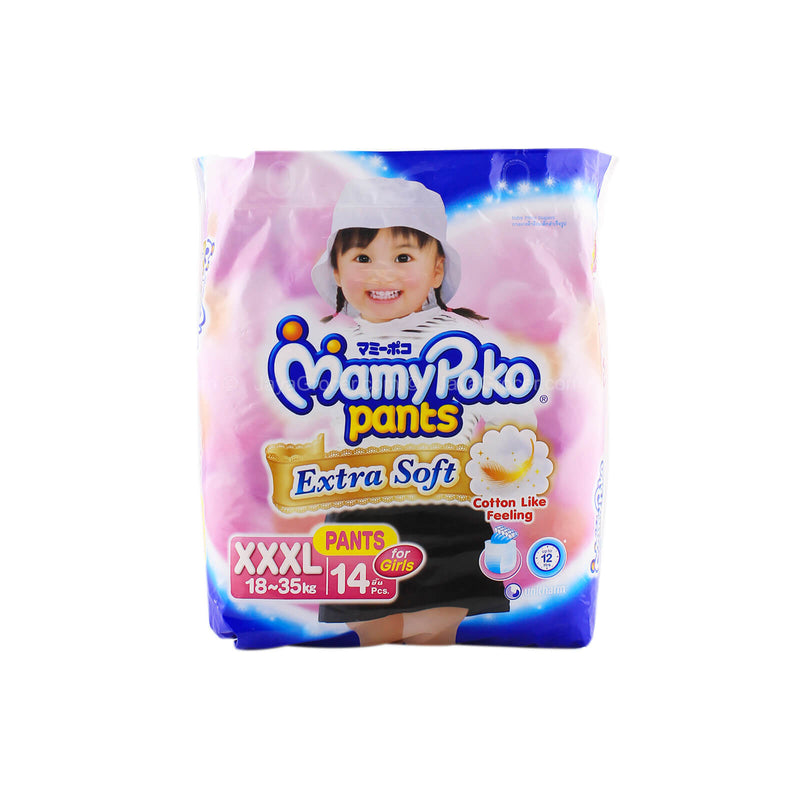 Mamy Poko Pants Extra Soft Diapers Girl XXXL 14pcs
