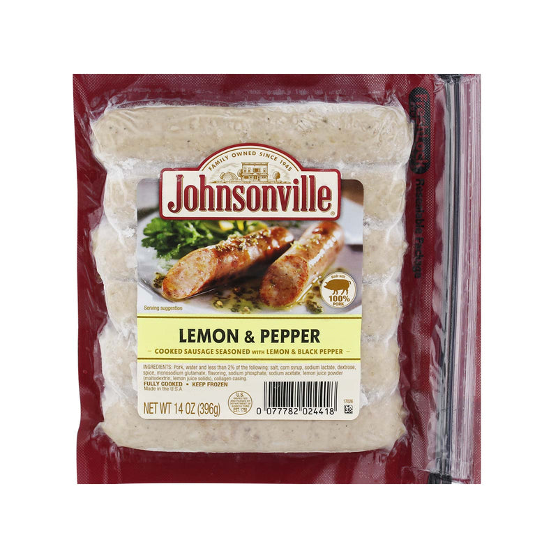 Johnsonville Lemon & Pepper Cooked Sausage 396g