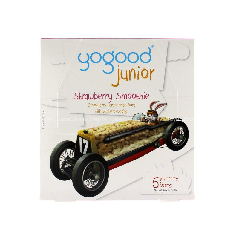 Yogood Junior Strawberry Smoothie Bars 80g