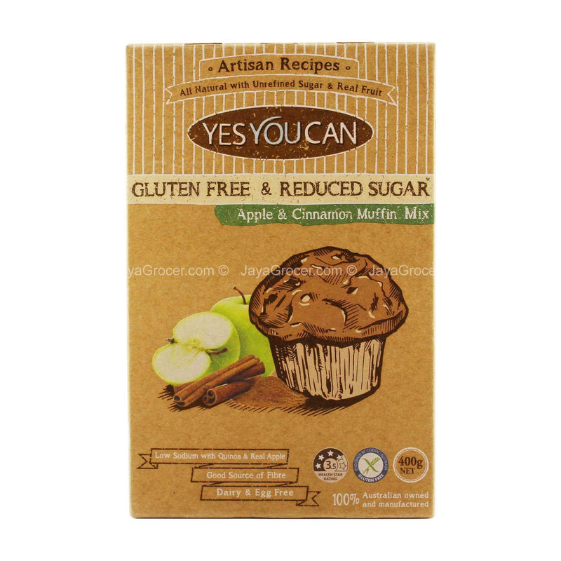 Yes You Can Apple & Cinnamon Muffin Mix 400g