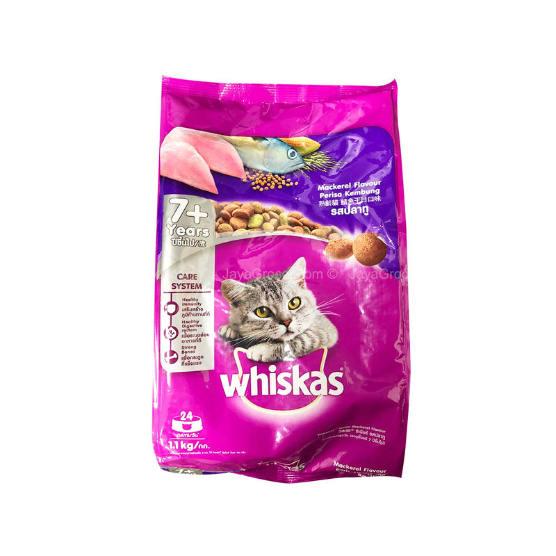 Whiskas Mackerel Dry Cat Food for Adult Cat 1.1kg
