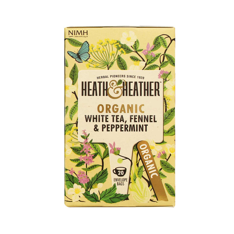 Heath & Heather Organic White Tea, Fennel & Peppermint 30g