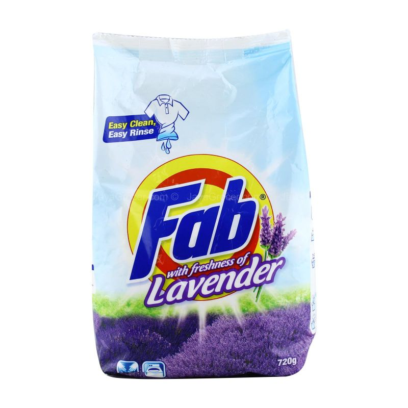 Fab with Freshness of Lavender Detergent Powder 720g