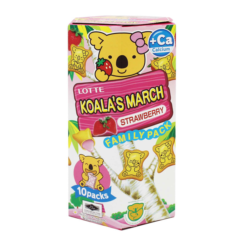 Lotte Koala's March Biscuit with Strawberry Filling 195g