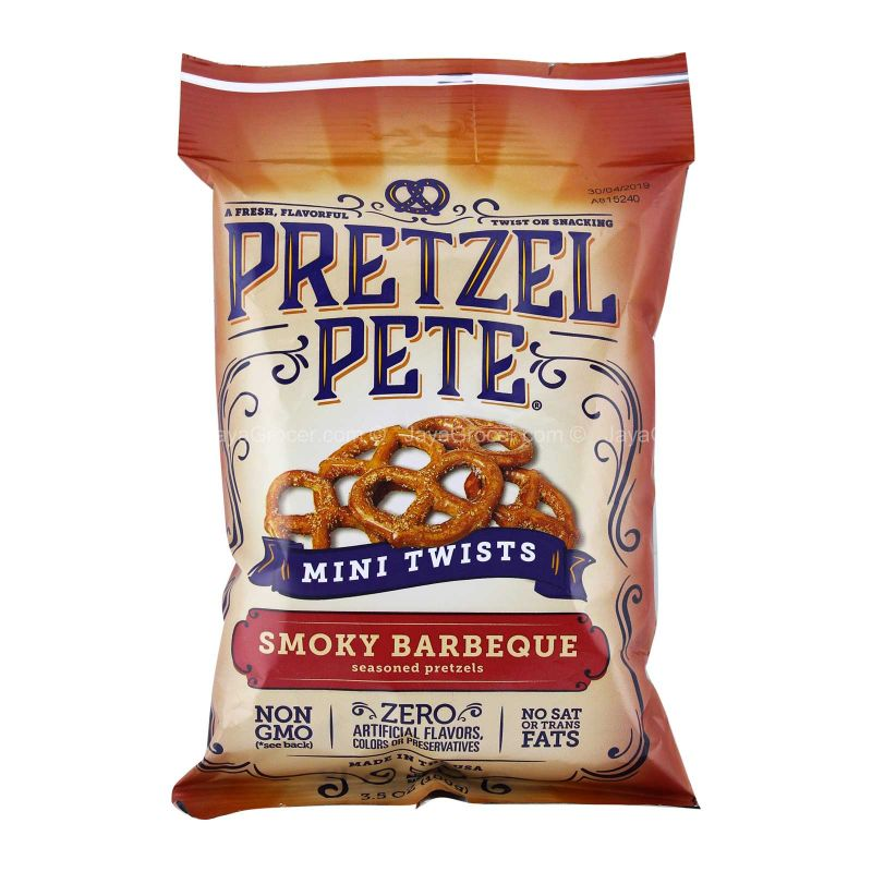 Pretzel Pete Smoky Barbeque Mini Twists 100g
