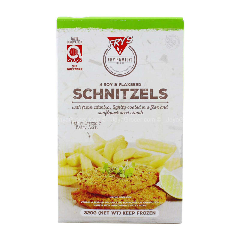 Fry's 4 Soy and Flaxseed Schnitzels 320g