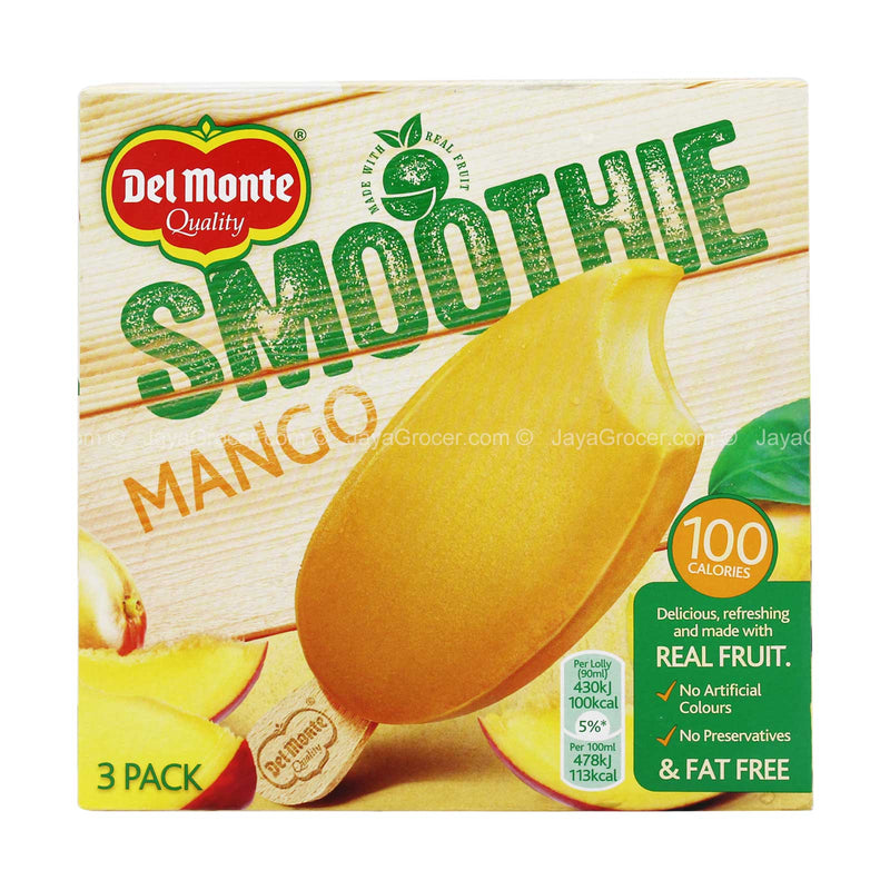 Del Monte Mango Smoothie Ice Lolly 90ml x 3