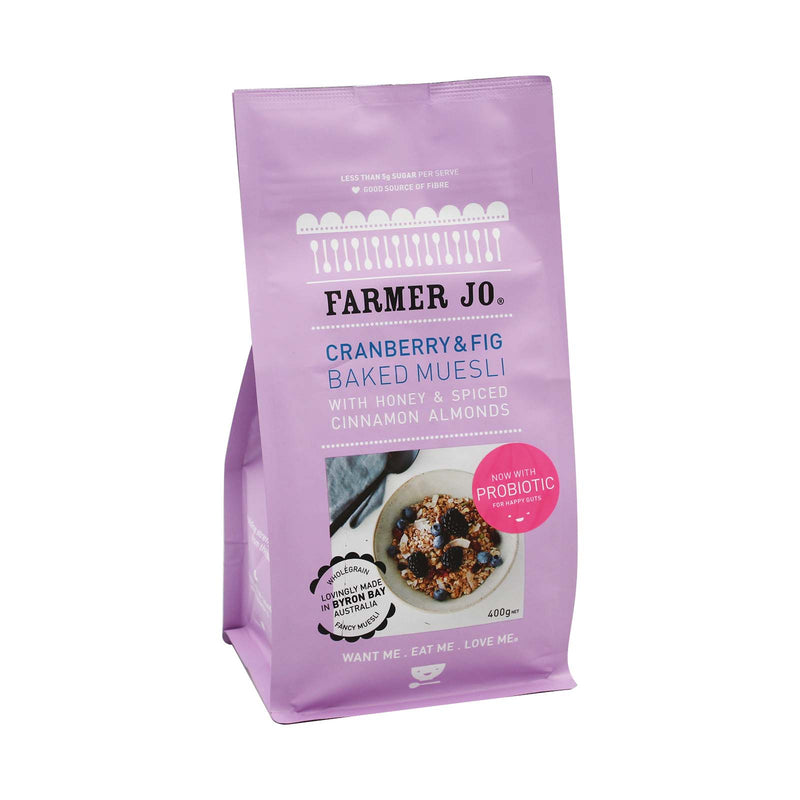 Farmer Jo Cranberry & Fig Baked Muesli 400g