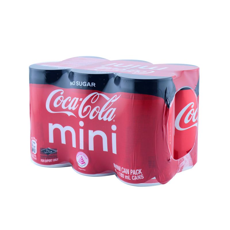 Coca-Cola™ No Sugar Mini Can Pack 180ml x 6