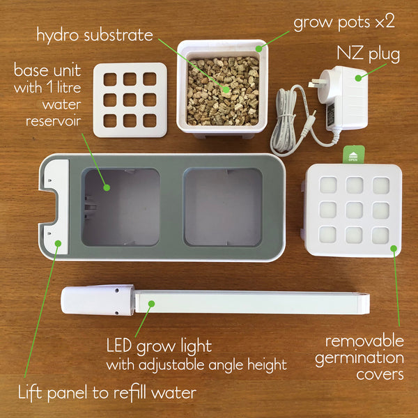 Smart Garden Hydro 2.0 Kit components