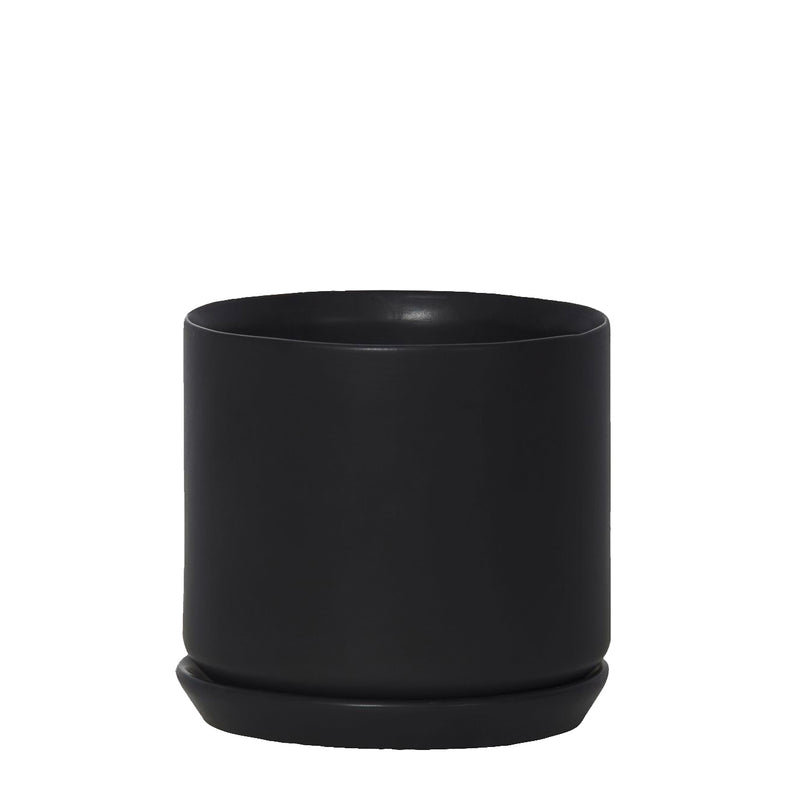 Oslo Planter Medium - 12.5cm x 14cm - Jet Black