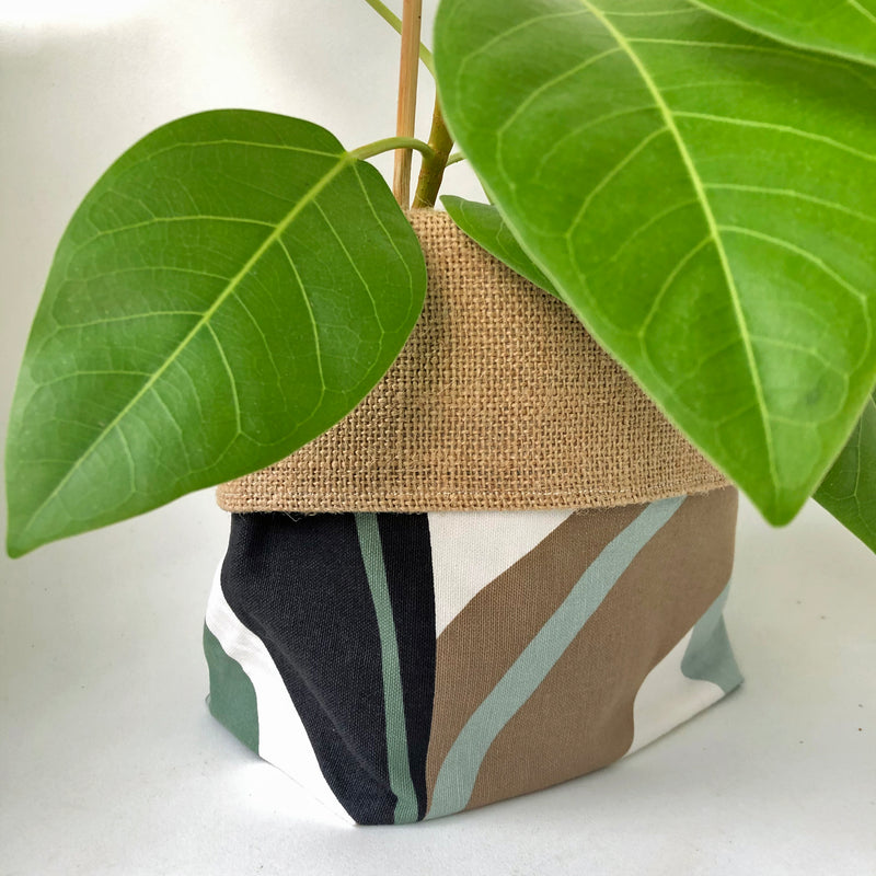 LIMITED EDITION Orchid & Fig Reversible Cover Pot - Leaves - SOLD OUT