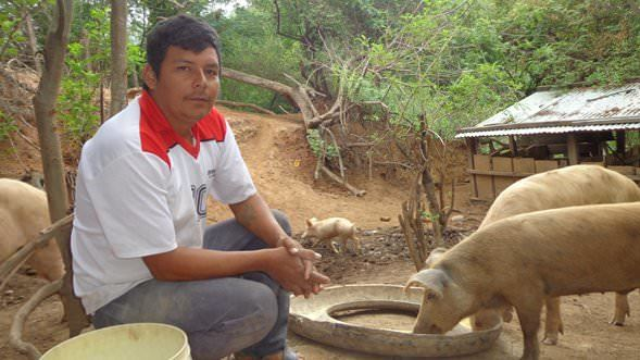 Fermin, a hog farmer in Bolivia.