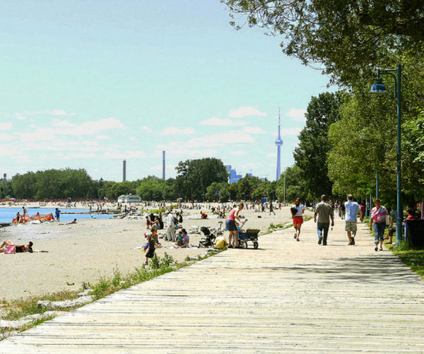 The boardwalk at the Beaches neighborhood in Toronto, Ontario.