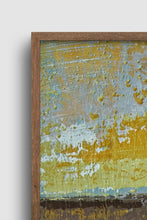 "Load image into Gallery viewer, Closeup detail of gold and brown abstract landscape art ""Afternoon Delight,"" giclee print by Victoria Primicias"