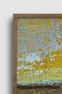 "Closeup detail of gold and brown abstract landscape art ""Afternoon Delight,"" giclee print by Victoria Primicias"