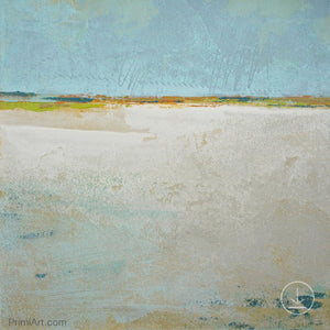 "Zen muted abstract ocean art ""Alabaster Sands,"" downloadable art by Victoria Primicias"