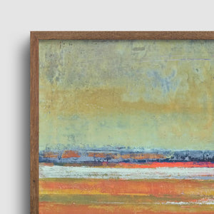 "Closeup detail of zen abstract beach wall art ""Amber Keys,"" digital download by Victoria Primicias"