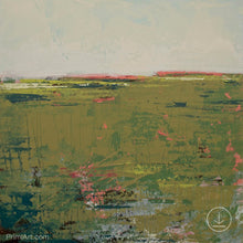 "Load image into Gallery viewer, Modern abstract landscape art ""Brassy Pastures,"" downloadable art by Victoria Primicias"