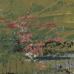 "Closeup detail of modern abstract landscape art ""Brassy Pastures,"" downloadable art by Victoria Primicias"