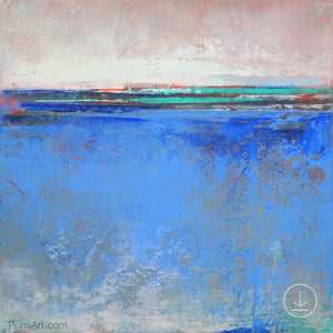 "Zen abstract beach art ""Carolina Shores,"" downloadable art by Victoria Primicias"