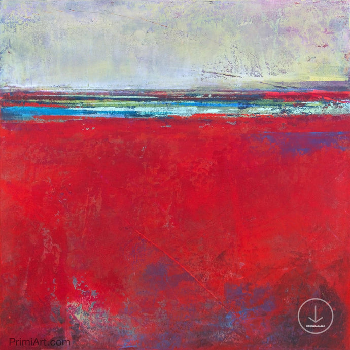 Bold abstract seascape painting