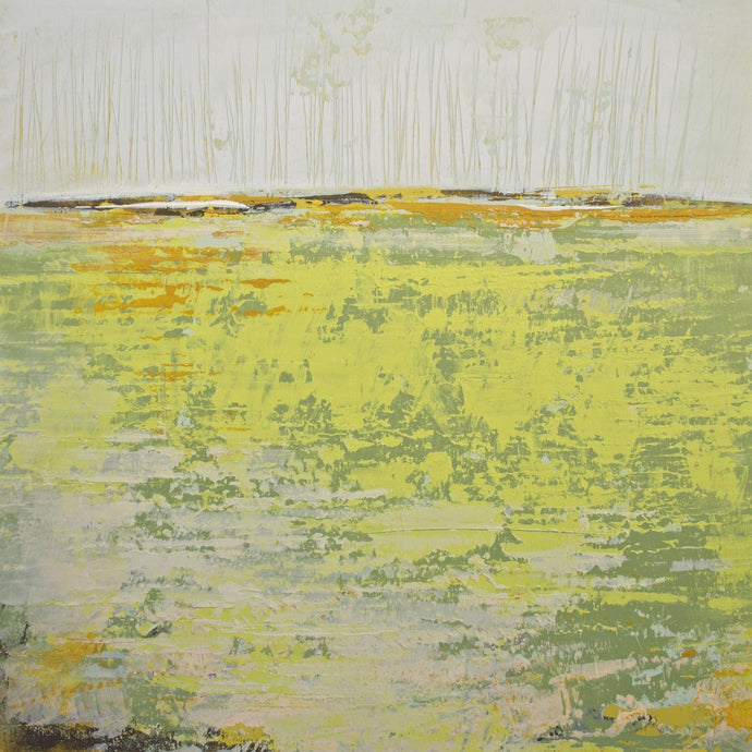 Sunny abstract landscape painting