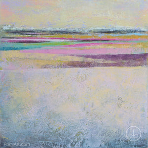 "Square abstract seascape painting ""Common Threads,"" digital download by Victoria Primicias"