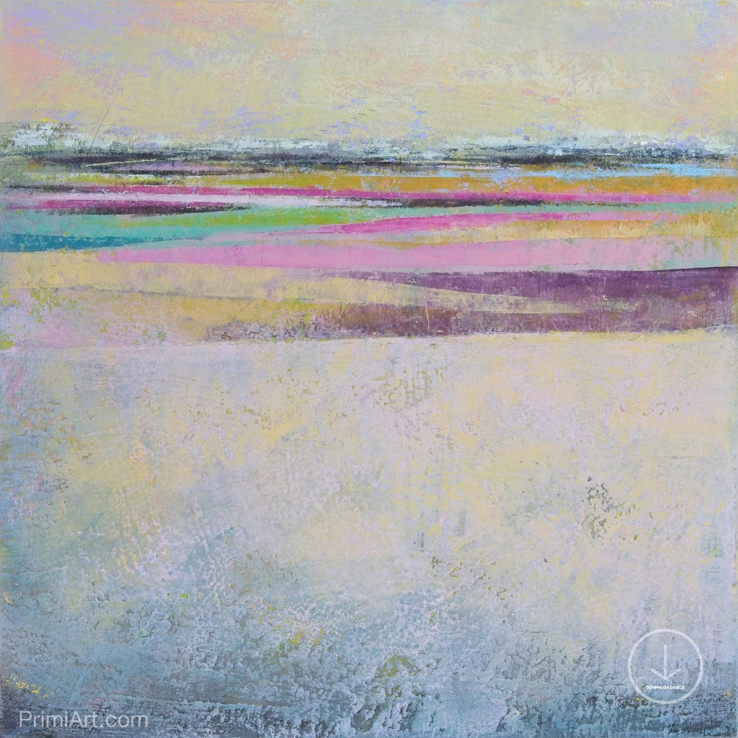 Square abstract seascape painting