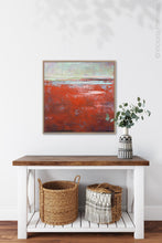 "Load image into Gallery viewer, Contemporary abstract seascape painting ""Courage Point,"" printable wall art by Victoria Primicias, decorates the hallway."