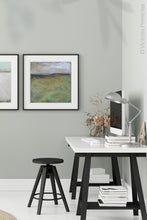 "Load image into Gallery viewer, Large abstract landscape painting ""Dijon Dunes,"" canvas print by Victoria Primiciasoffice."