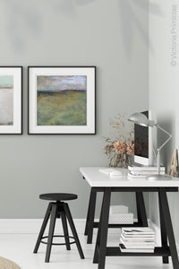"Large abstract landscape painting ""Dijon Dunes,"" canvas print by Victoria Primiciasoffice."