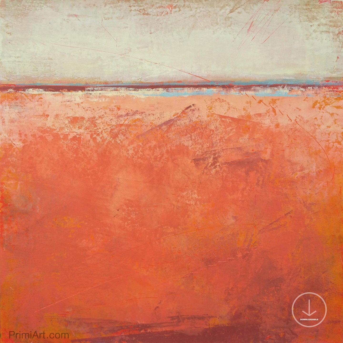 Square abstract beach wall decor