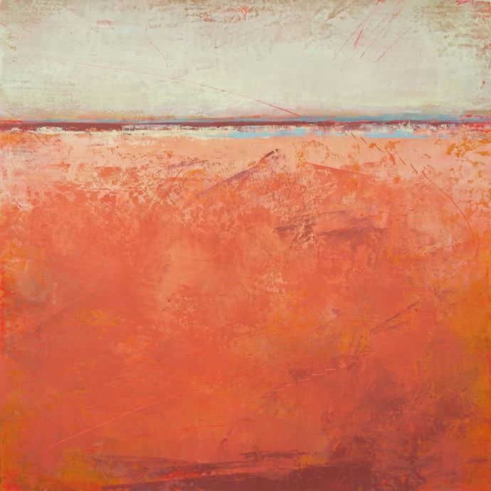 Orange abstract beach wall decor