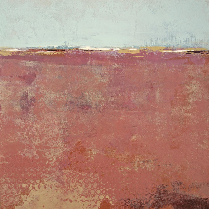 Red abstract beach painting