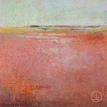 "Load image into Gallery viewer, Square abstract coastal wall art ""Golden Voyage,"" digital download by Victoria Primicias"